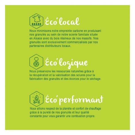 Utilisez nos granulés de bois français pour votre chaudière dans une démarche locale et écoresponsable