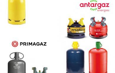 Grand choix de bouteilles de gaz butane pour utilisation domestique et professionnelle